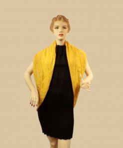 bolre crochet jaune presentation